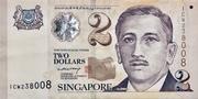 2 Dollars (Monetary Authority of Singapore; paper) -  obverse