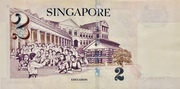 2 Dollars (Monetary Authority of Singapore; paper) – reverse