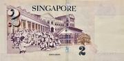 2 Dollars (Monetary Authority of Singapore; paper) – reverse