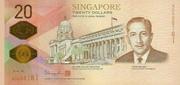 20 Dollars (Singapore Bicentennial) – obverse