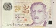 2 Dollars (Monetary Authority of Singapore; polymer) – obverse