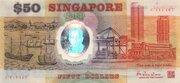 50 Dollars (25 Singapore 25 Years of Independence) – obverse