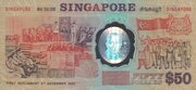 50 Dollars (25 Singapore 25 Years of Independence) – reverse