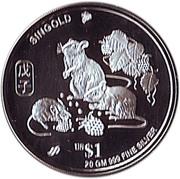 1 Dollar (Year of the Rat; Silver Trade Bullion) – reverse