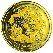1/25 Ounce Gold (Year Of The Dragon) – obverse