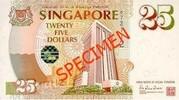 25 Dollars (Anniversary of Monetary Authority of Singapore) – obverse