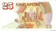 25 Dollars (Anniversary of Monetary Authority of Singapore) – reverse