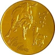 Token - Year of the Goat - 1991 – obverse