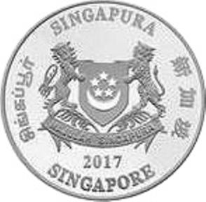 Polymer ND Singapore P-46h 2 Dollars 2016 UNC />  One Hollow Star