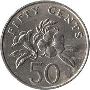 50 Cents (ribbon upwards) -  reverse