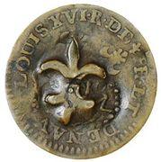 Cayenne Stuiver (SM + fleur-de-lis countermark) – obverse