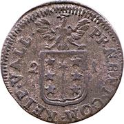 ½ Batzen - Franz-Joseph Supersaxo – reverse