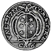 6 Kreuzer - Franz Friedrich – reverse