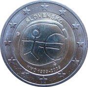 2 Euro (10 Years of EMU) -  obverse