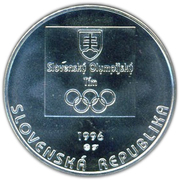 200 Korún (Olympic Oval Track) – obverse