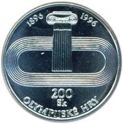 200 Korún (Olympic Oval Track) – reverse