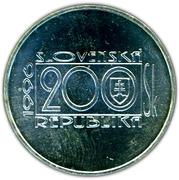 200 Korún (Jozef Cíger Hronský) – obverse