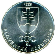 200 Korún (150 Years Slovak Language) – obverse