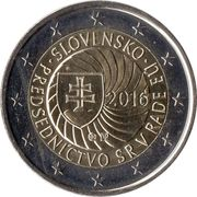 2 Euro (Slovak Presidency of the Council of the EU) -  obverse
