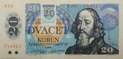 20 Korún (Provisional Note) – obverse