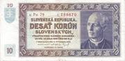 10 Korún Slovenských – obverse