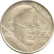 200 Korún (Mikulas Galanda) – reverse