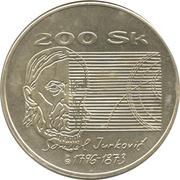 200 Korún (Samuel Jurkovič) – reverse