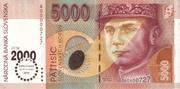 5000 Korún (Millennium 2000 Commemorative Overprint) – obverse