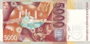 5000 Korún (Millennium 2000 Commemorative Overprint) – reverse