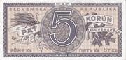 5 Korún – reverse