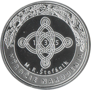 Token - Generál M. R. Štefánik – reverse