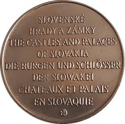 Token - The castles and palaces of Slovakia (Hrad Nitra) -  obverse