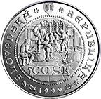 500 Korún (Striking of Thaler coins in Kremnica) -  obverse