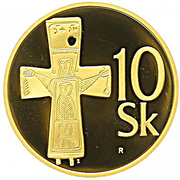 10 Korún (Gold Proof) – reverse