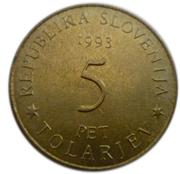5 Tolarjev (Battle of Sisek) – obverse