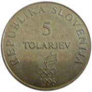 5 Tolarjev (Olympics Centennial) – obverse