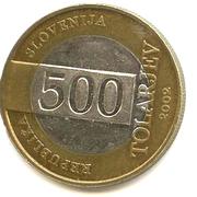 500 Tolarjev (Soccer World Championship) – obverse