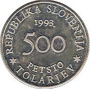 500 Tolarjev (Battle of Sisek) – obverse