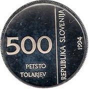 500 Tolarjev (Monetary Institute of Slovenia) -  obverse