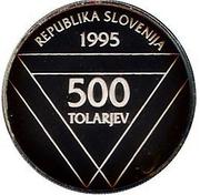500 Tolarjev (Aljaž turret) – obverse