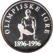 500 Tolarjev (Olympics Centennial) – reverse