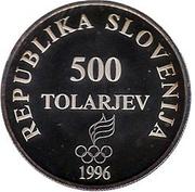 500 Tolarjev (Olympics Centennial) – obverse