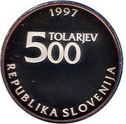 500 Tolarjev (Zois Žiga) – obverse
