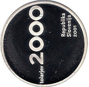 2000 Tolarjev (Slovenia and the Tolar Anniversary) -  obverse