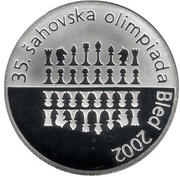 2500 Tolarjev (35th Chess Olympiad) – reverse