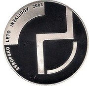 2500 Tolarjev (European Year of the Disabled) -  reverse