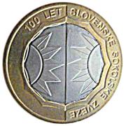 500 Tolarjev (Centennial of Slovene Sokol Association) – reverse