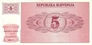 5 Tolarjev – reverse