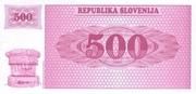 500 Tolarjev – reverse