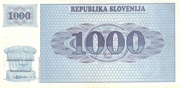 1000 Tolarjev – reverse